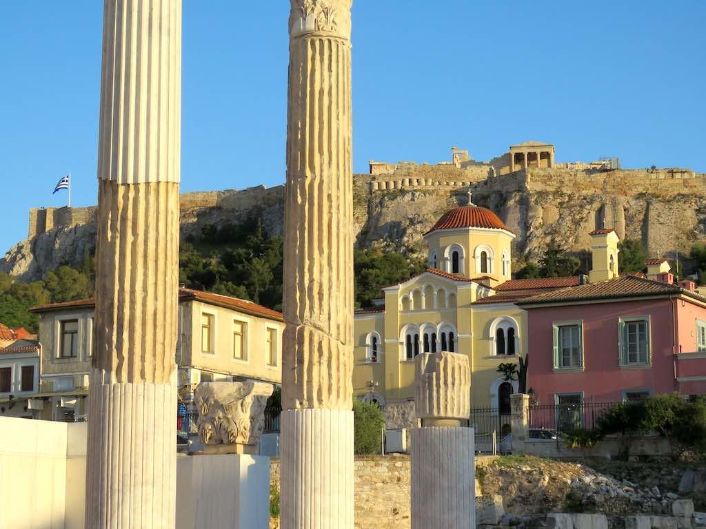 athens plaka roman agora acropolis